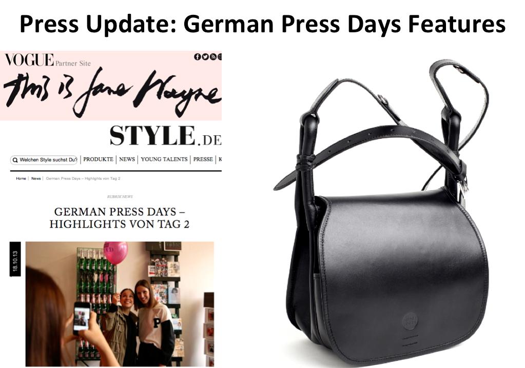 press update german press days iwishusun bag